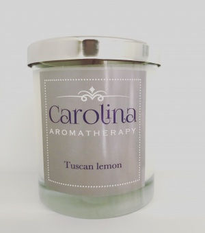 Carolina Aromatherapy Tuscan lemon candle