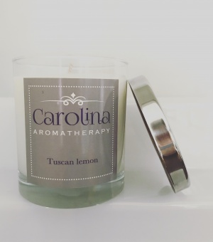 small tuscan lemon candle carolina aromatherapy