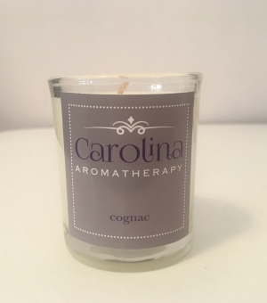 small cognac candle carolina aromatherapy