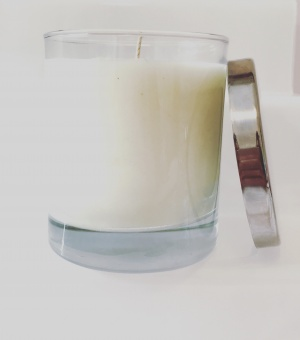 denim noir large candle carolina aromatherapy