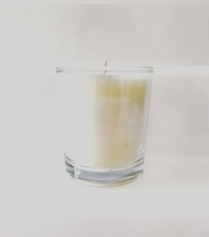 denim noir small candle carolina aromatherapy