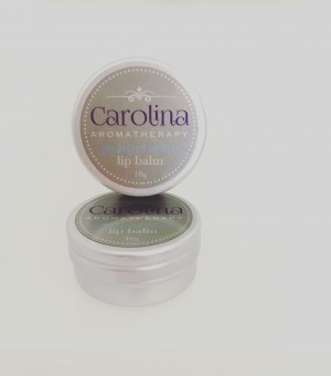 Peppermint lip balm carolina aromatherapy